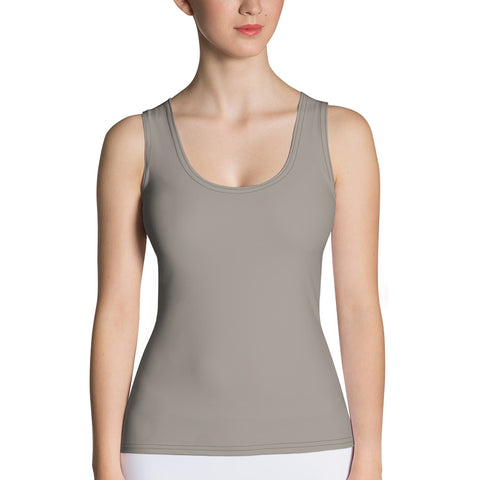 Sublimation Cut & Sew Tank Top Medium Gray.