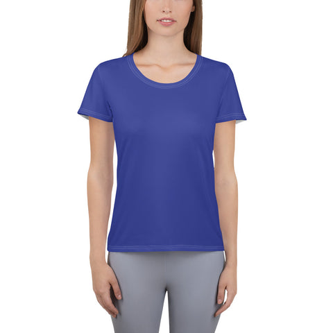 All-Over Print Women's Athletic T-shirt Blue.