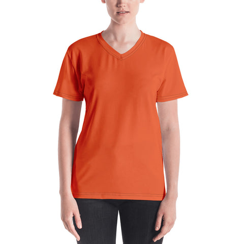 Women's V-neck Orange.