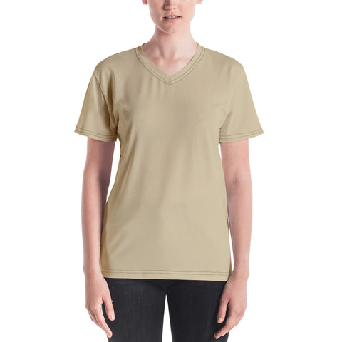 Women's V-neck Soybean.