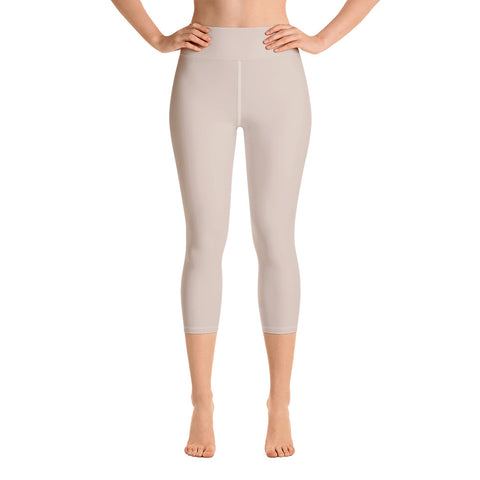 Yoga Capri Leggings Sand.