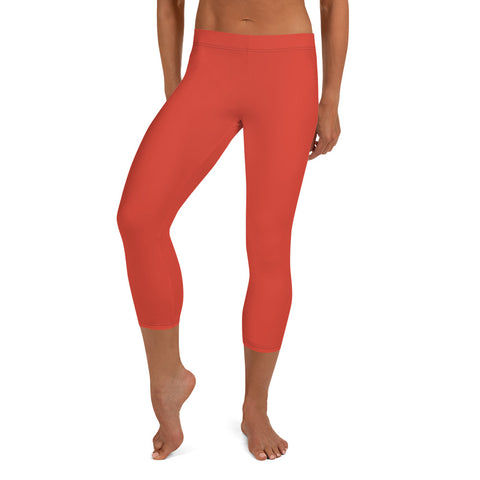 Capri Leggings Fiesta Red.