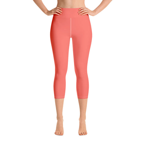 Yoga Capri Leggings Living Coral.