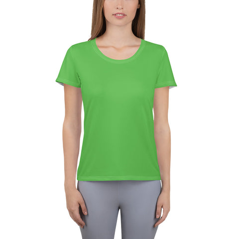 All-Over Print Women's Athletic T-shirt Intense Green.