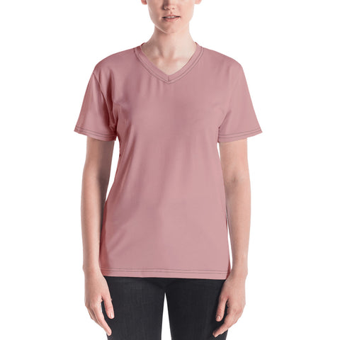 Women's V-neck Pressed Pink.