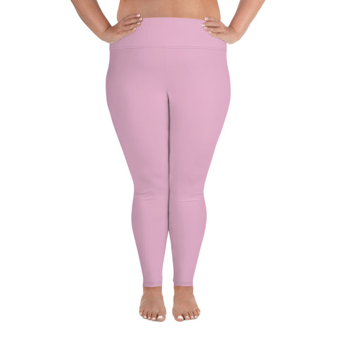 All-Over Print Plus Size Leggings Sweet Pink
