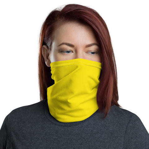 Neck Gaiter Bright Yellow.