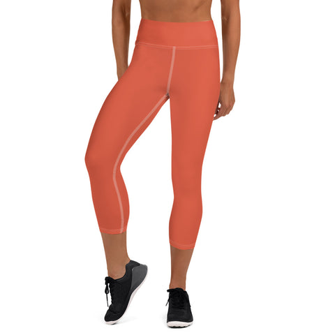Yoga Capri Leggings Lilly Orange.