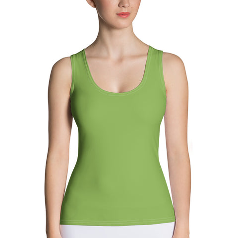Sublimation Cut & Sew Tank Top Greenery Green.
