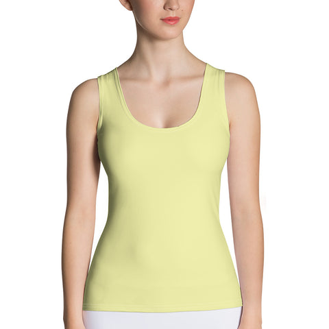 Sublimation Cut & Sew Tank Top Light Yellow.