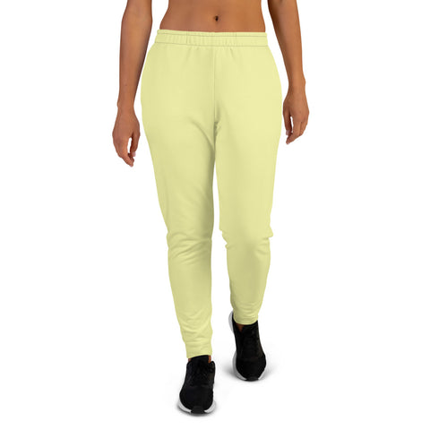 Women's Joggers Light Yellow.