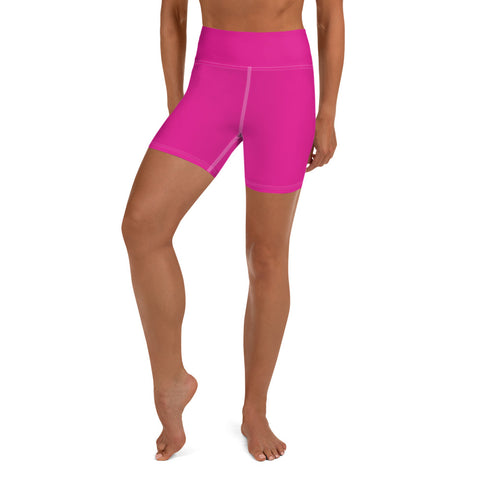 Yoga Shorts Rhodamine Red.