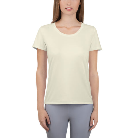All-Over Print Women's Athletic T-shirt Sweet White.