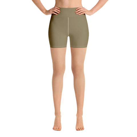 Yoga Shorts Olive Green.