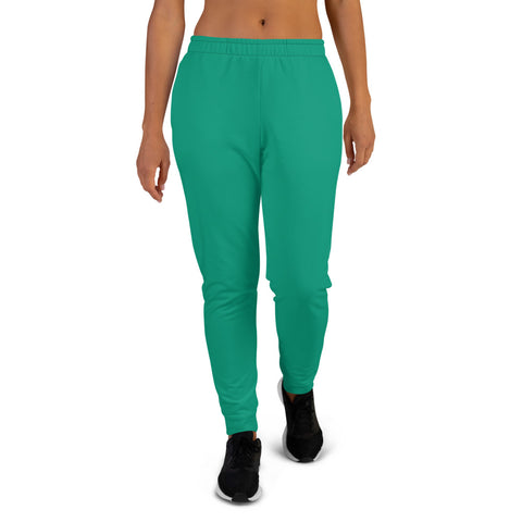 Women's Joggers Emerald Green.