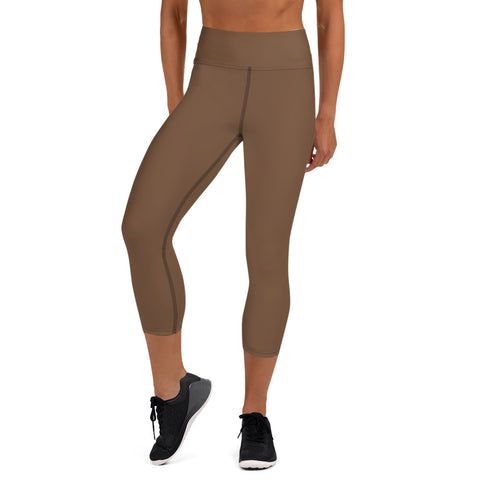 Yoga Capri Leggings Toffee Brown.