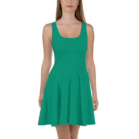 Skater Dress Emerald Green.