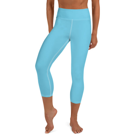 Yoga Capri Leggings Light Blue.