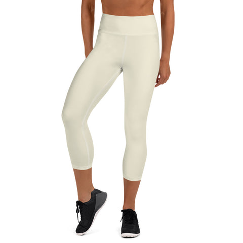 Yoga Capri Leggings Sweet White.