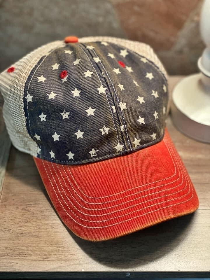 Star spangled ball cap