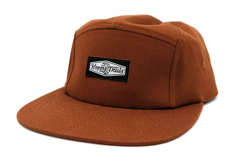 5-Panel, Diamond Woven Label, Brown