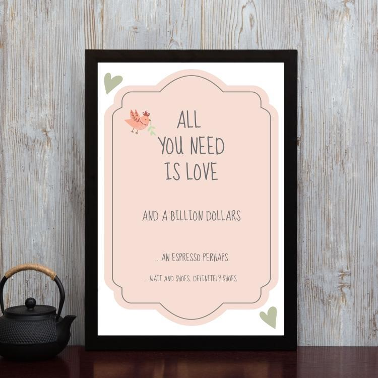 All you need is Love- Framed Poster