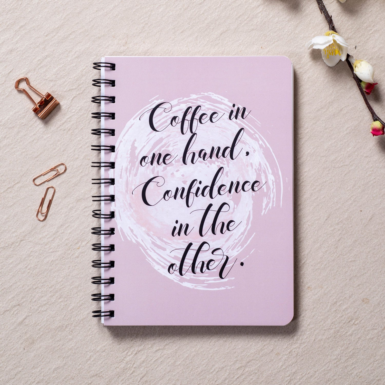 Coffee & Confidence - WireO Notebook