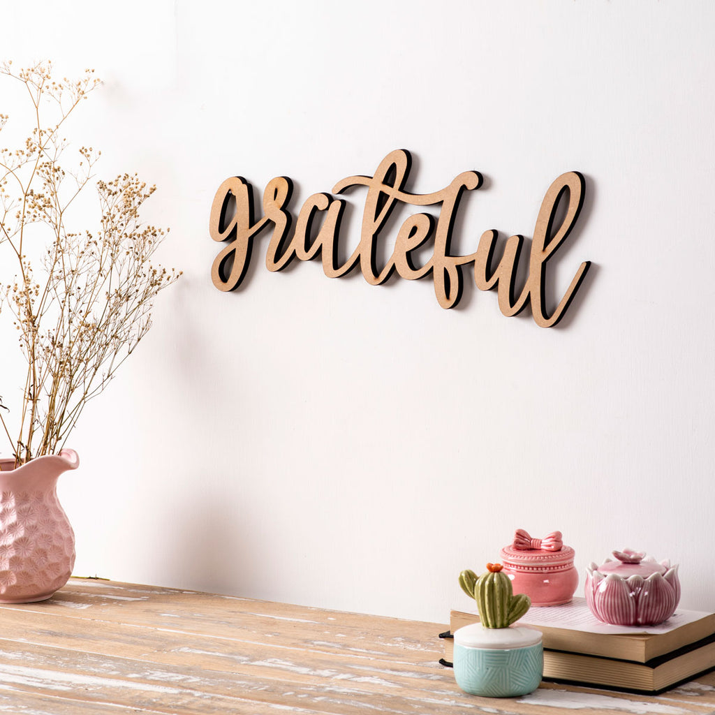 Grateful - 3D Wall Letters