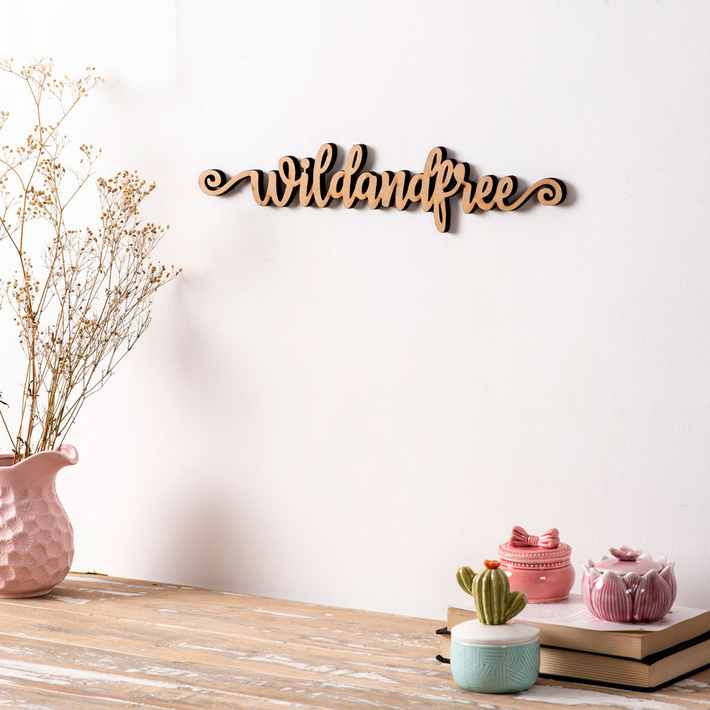 Wild And Free - 3D Wall Letters