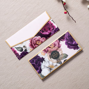 Floral Desire - White & Gold Foiled Envelopes (Set Of 10)