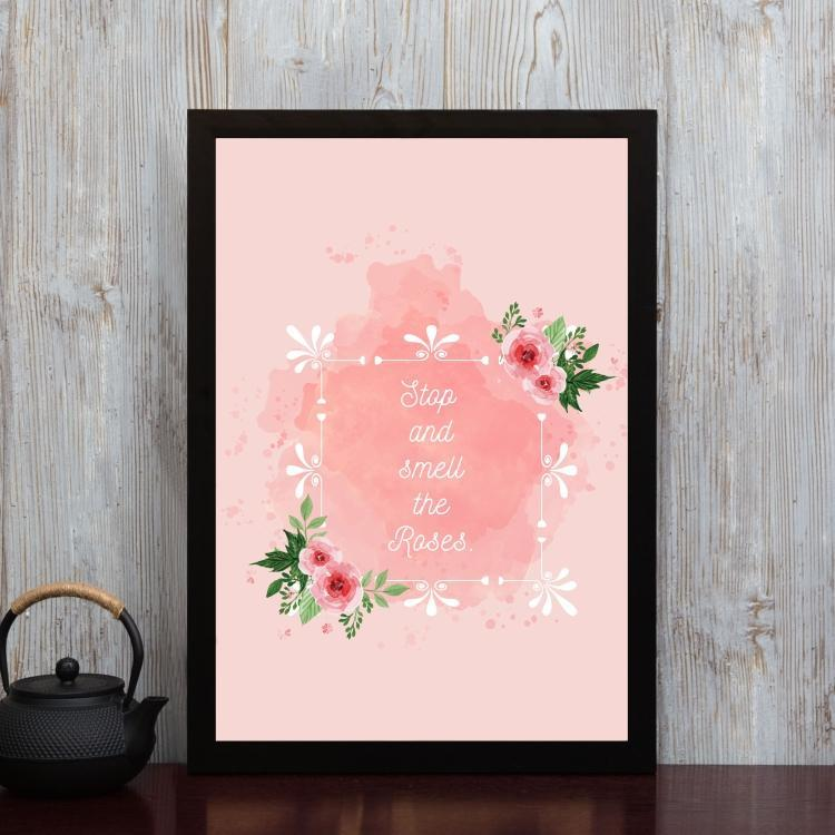 Stop and smell the roses- Framed Poster