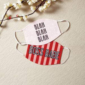 Girl Boss - Set Of Two Reusable Fabric Face Masks