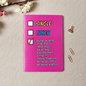 Single Taken Notebook