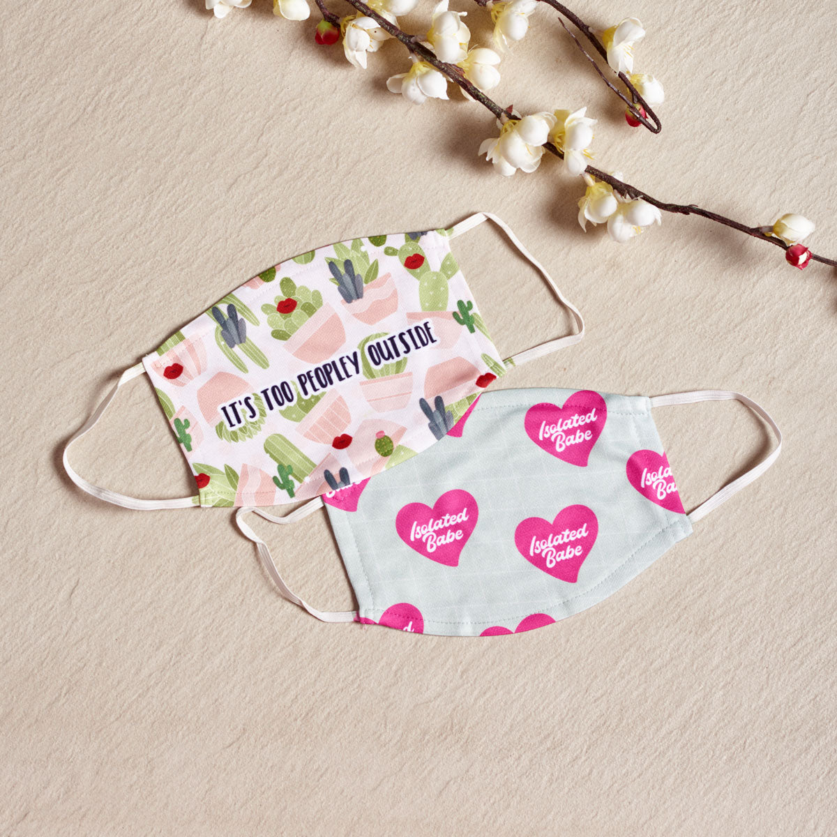 Anti-Social Club - Set Of Two Reusable Fabric Face Masks