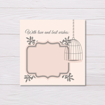 Bird Cage Best Wishes Card Set