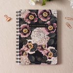 Floral Black Daily Planner