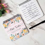 Floral & Stripes Print - Habit Tracker