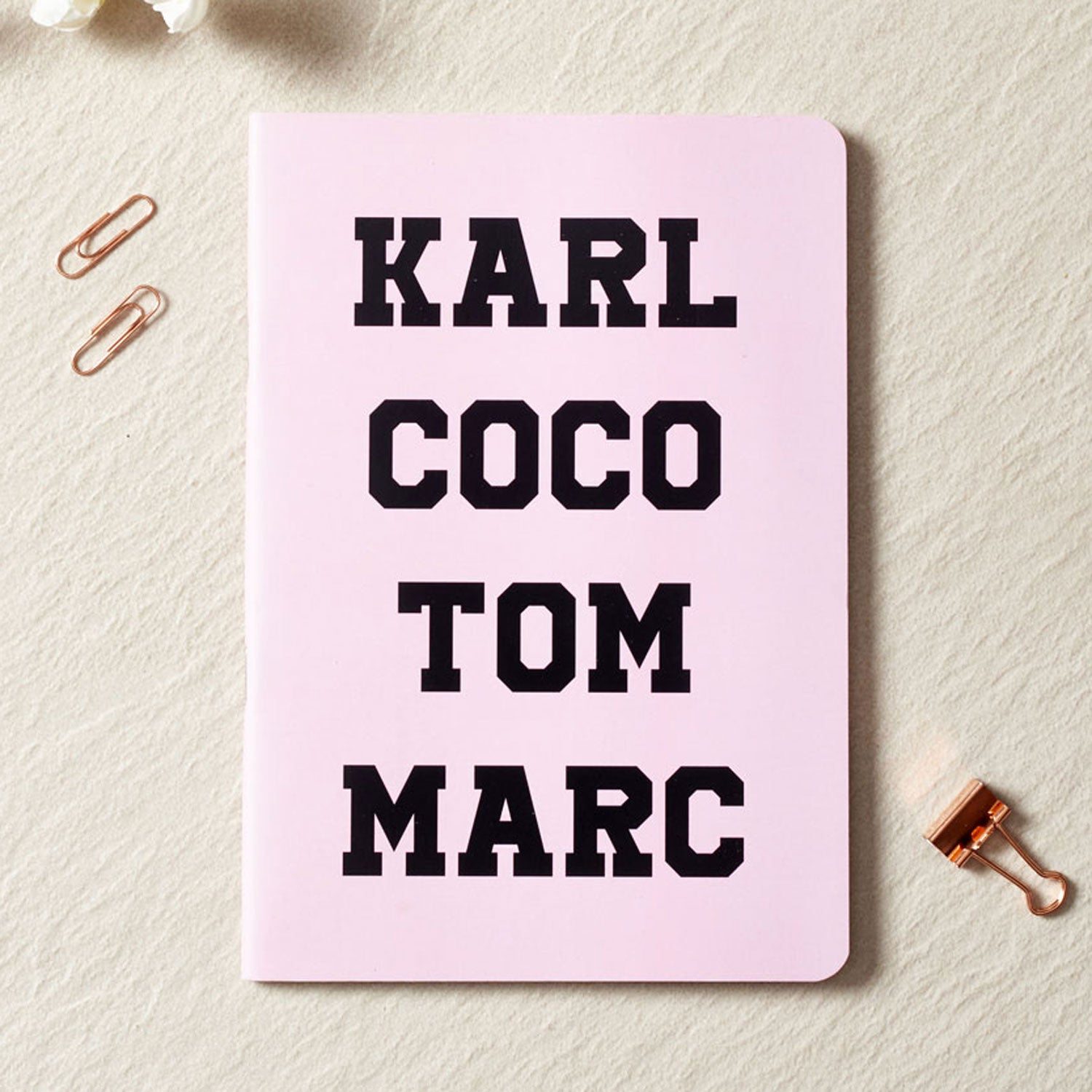 Karl Coco Tom Marc Notebook