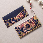 Paisley Desire - Navy Blue & Gold Foiled Envelopes (Set Of 10)