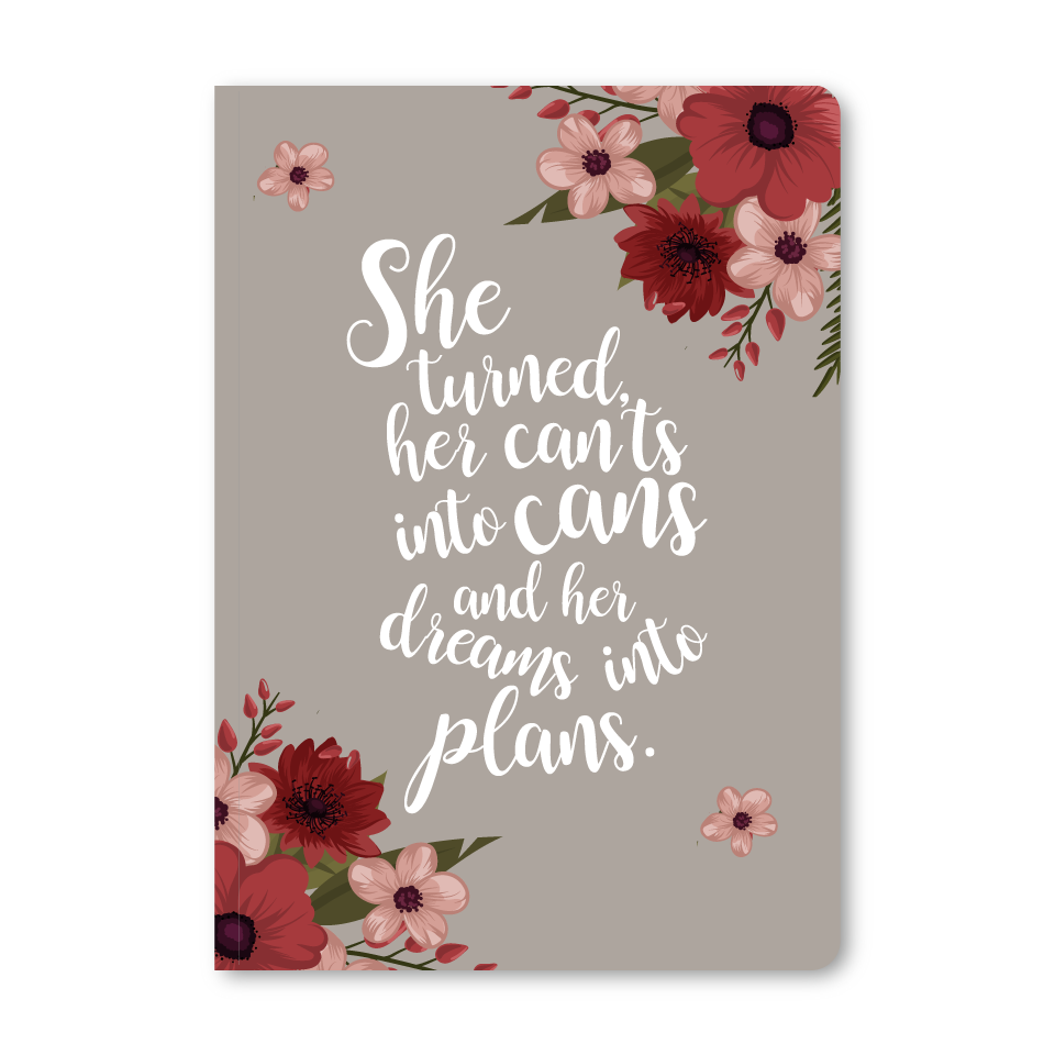 She Turned Her Dreams Into Plans Notebook