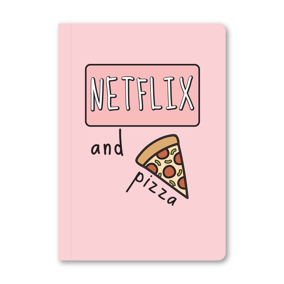 Netflix And Pizza Notebook