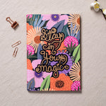 Stay In Your Magic - Gold Printed Notebook