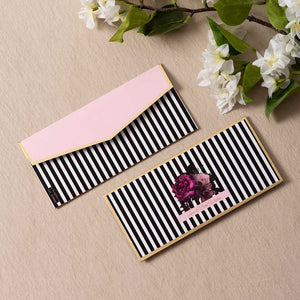 Stripe Efflorescent - Pink & Gold Foiled Envelopes (Set of 10)