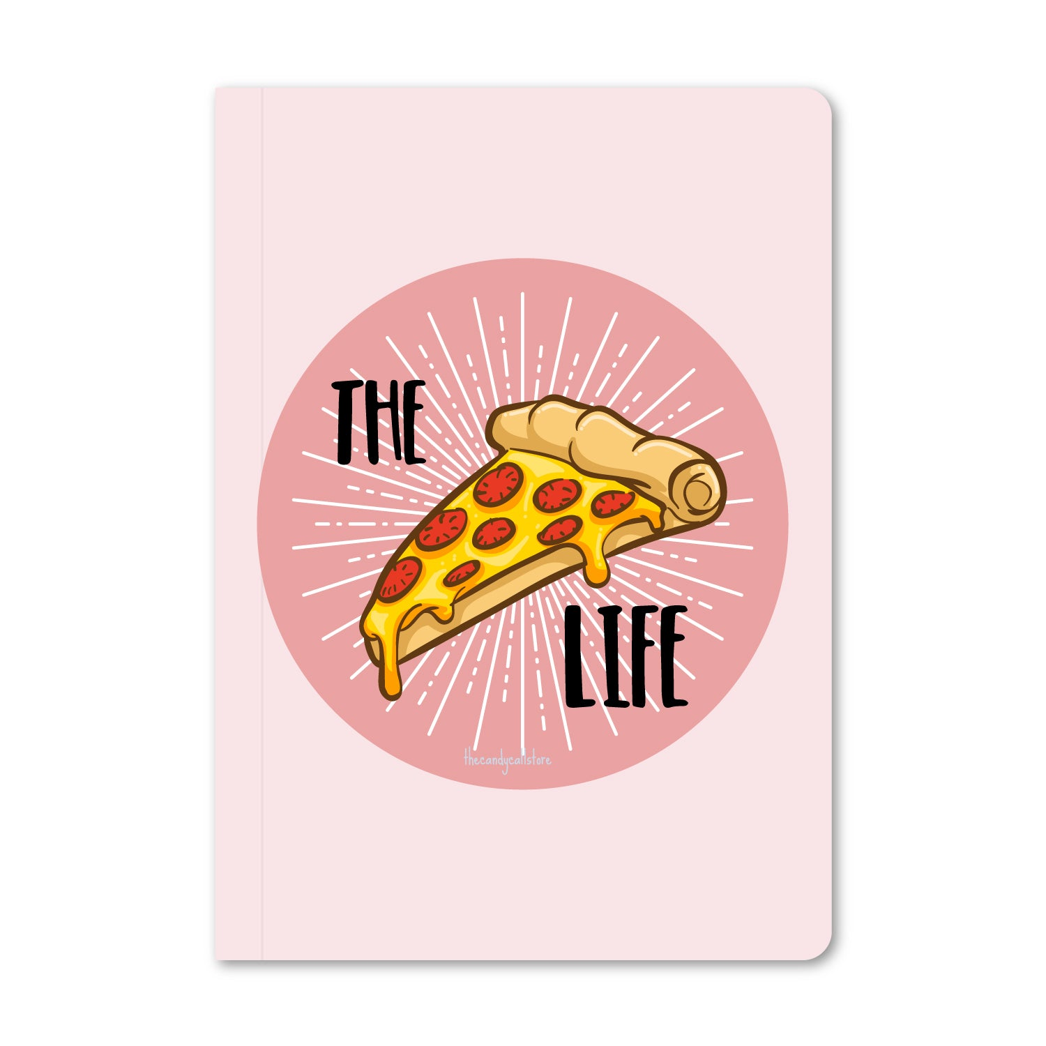The Pizza Life (Pink) Notebook