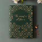 This Moment Is All There Is - Gold Printed Notebook