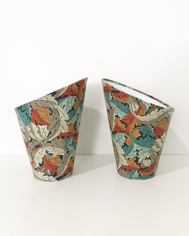 William Morris Acanthus Gooseneck Lampshades x 2