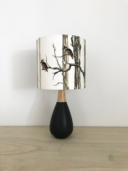 BUSHFIRE DONATION  - Kookaburra Black Ceramic Lamp