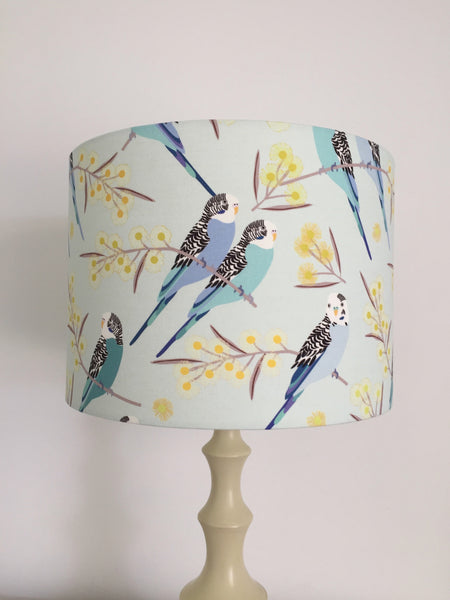 Blue Budgie & Wattle Lampshade