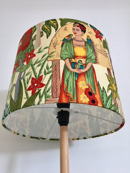 Frida Kahlo Lampshade |  Frida's Garden -CREAM