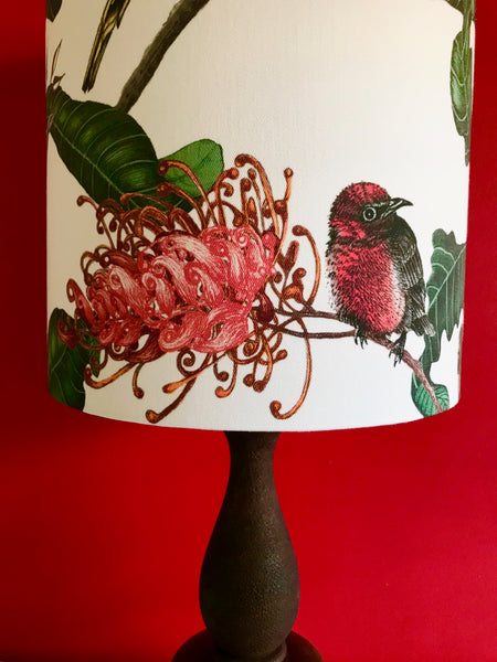 Scarlet Robin & Grevillea Grass Tree Table Lamp